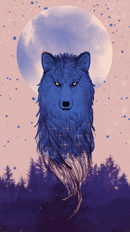 wolf - illustration, painting, drawing - soso-6104 | ello