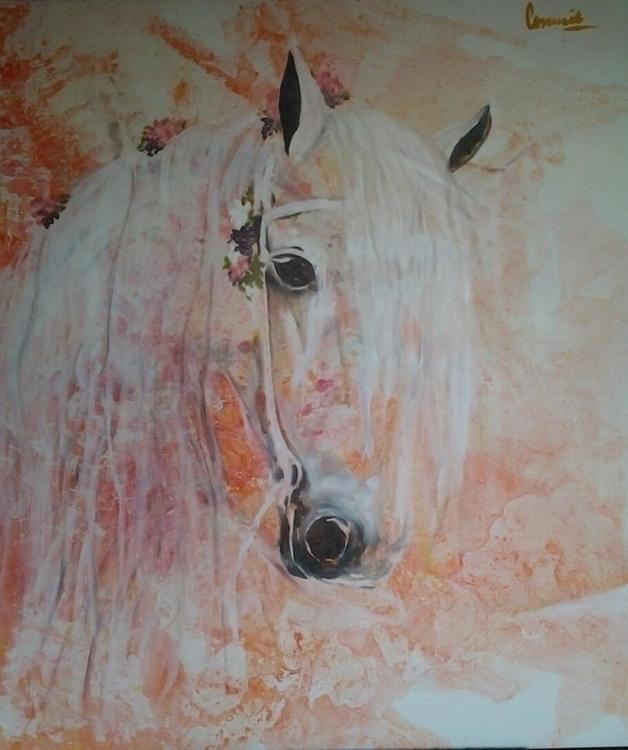 painting, horses, emotional, colors - conniemullerarte | ello