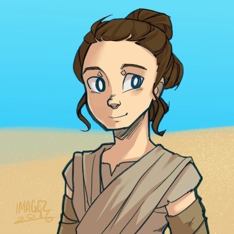 Rey loved force awakens - fanart - imagezart | ello