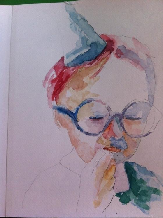 kids project - 1, watercolor, Artwork - valeagapi | ello