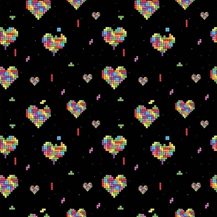 Love Tetris - pattern, surfacepattern - cibelle-7505 | ello