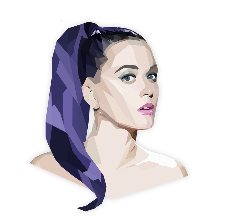KATY PERRY - illustration, animation - jimmyortiz | ello