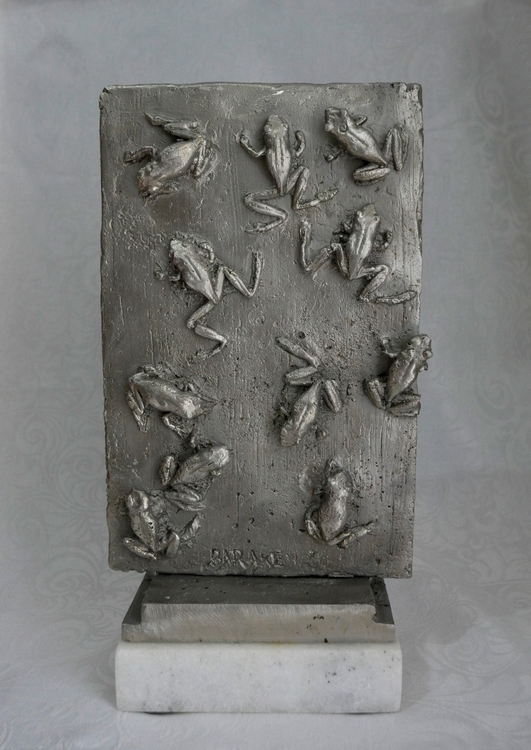 11 TOADS - sculpture, toad, stainlesssteel - barakesculptor | ello
