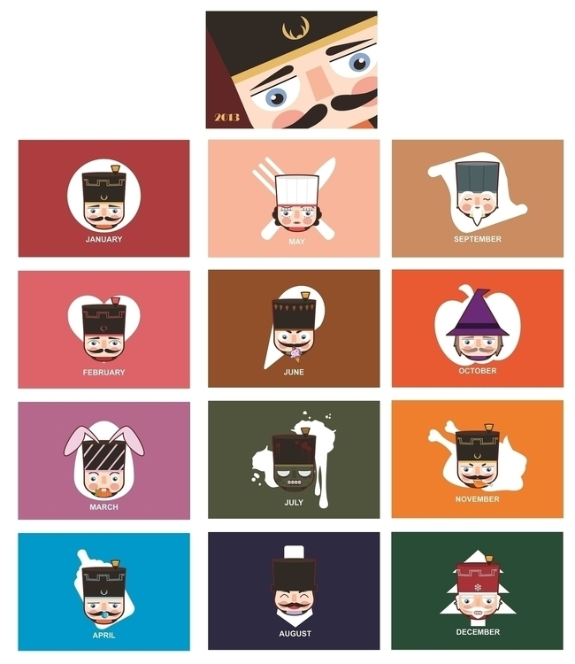 Desk calendar_nutcracker - illustration - kekemao | ello