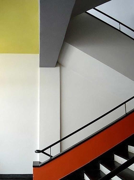 1932 - BAUHAUS,, Stairway,, Dessau, - bauhaus-movement | ello