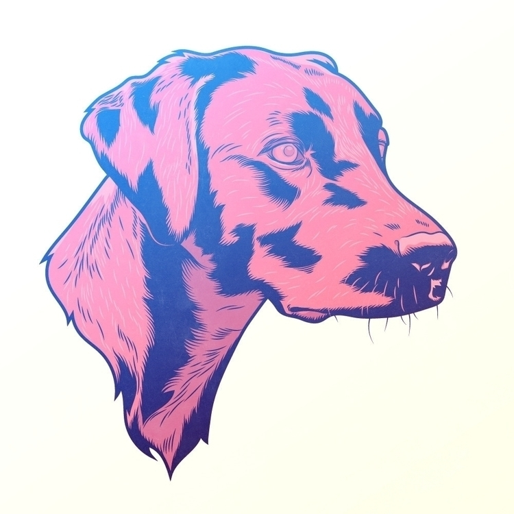 Winnie - illustration, dog, portrait - phosmer | ello