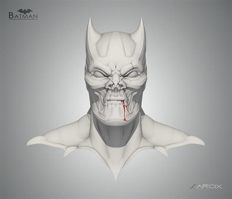 BAT-MAN sculpt sketch website - batman - giuseppe3d | ello