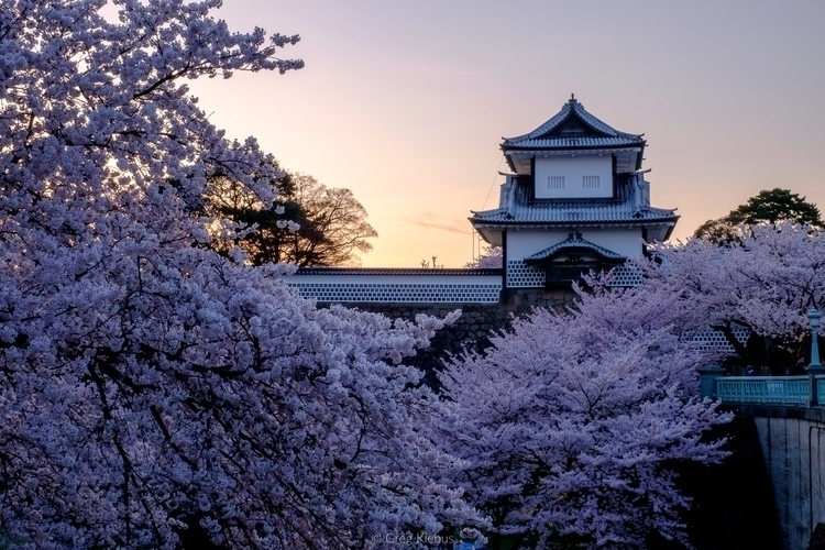 Sunset Kanazawa Castle Park, Ka - gklebus | ello