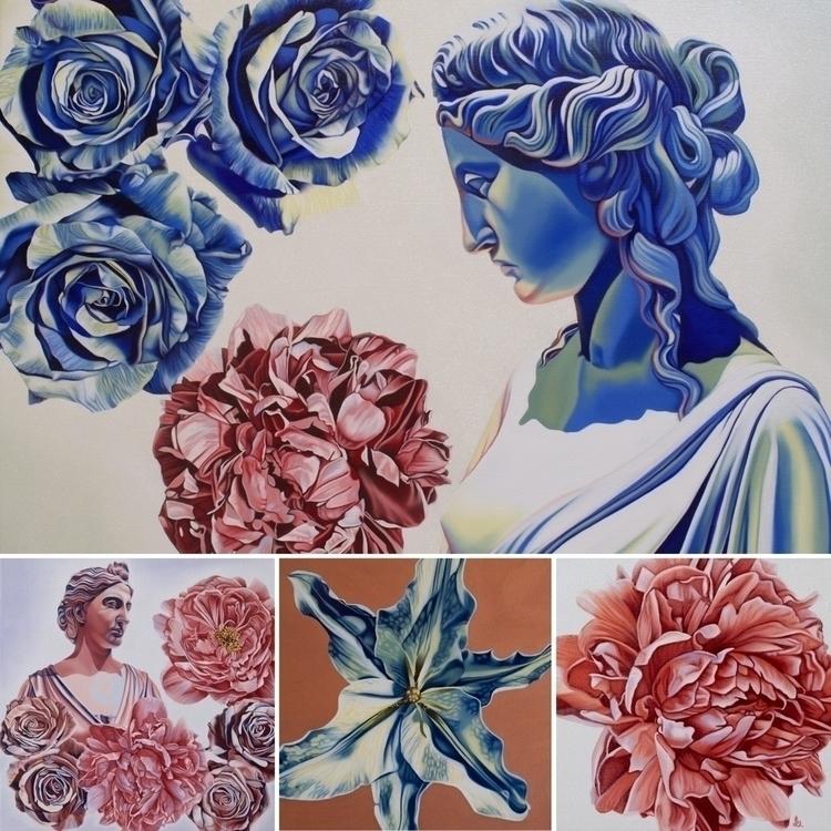 oilpainting, painting, flowers - brandiread   ello