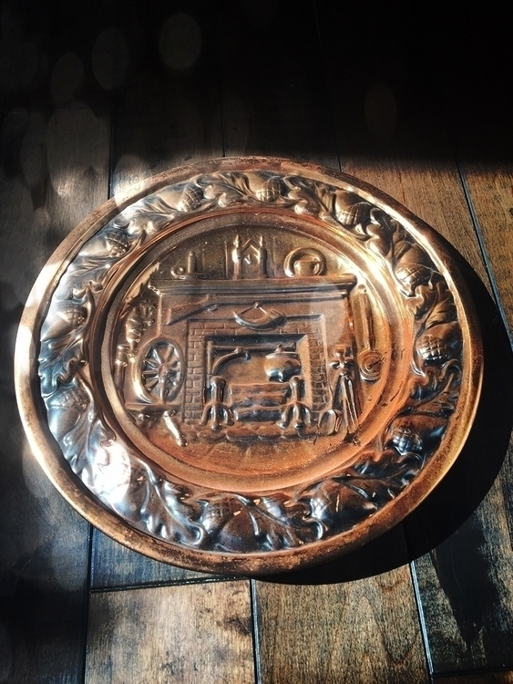 2 beautiful vintage brass plate - thewitch | ello