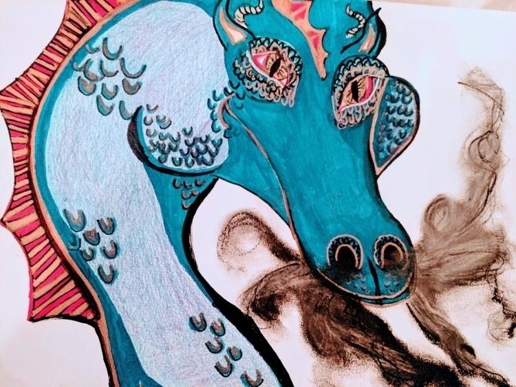 drawing, dragon - katroselamb | ello