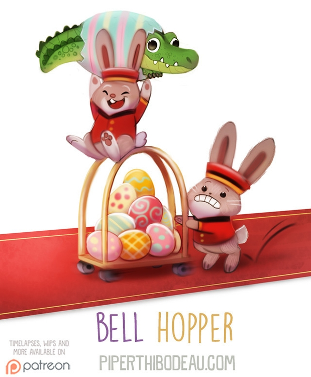 Daily Paint 1606. Bell Hopper - piperthibodeau | ello