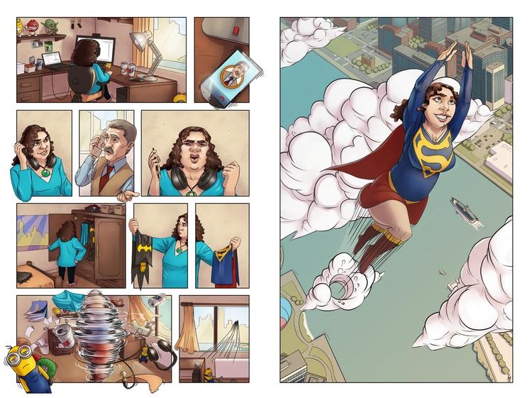 comic, bd, illustration, superhero - schoyhan | ello