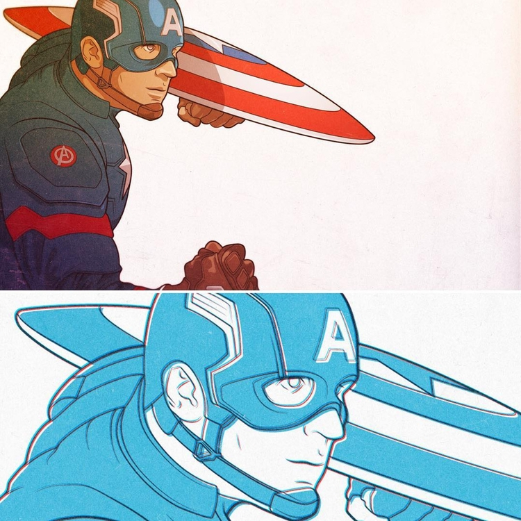 Steve - illustration, captainamerica - phosmer | ello
