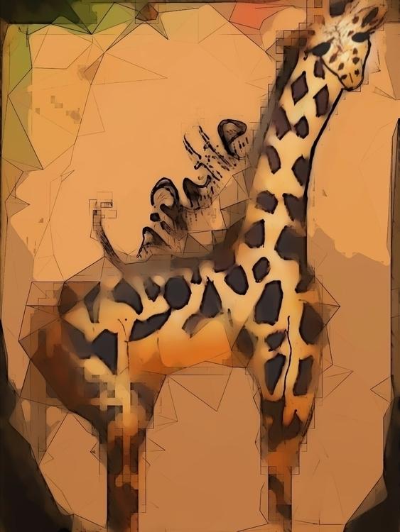 Drawing giraffe drew - katroselamb | ello