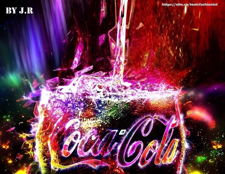 Glowing Coca-Cola - Advertising - toxicfashionist | ello