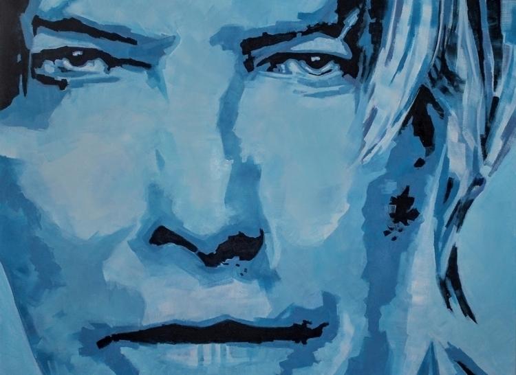 David Bowie Portrait - Blue Acr - artenvy | ello