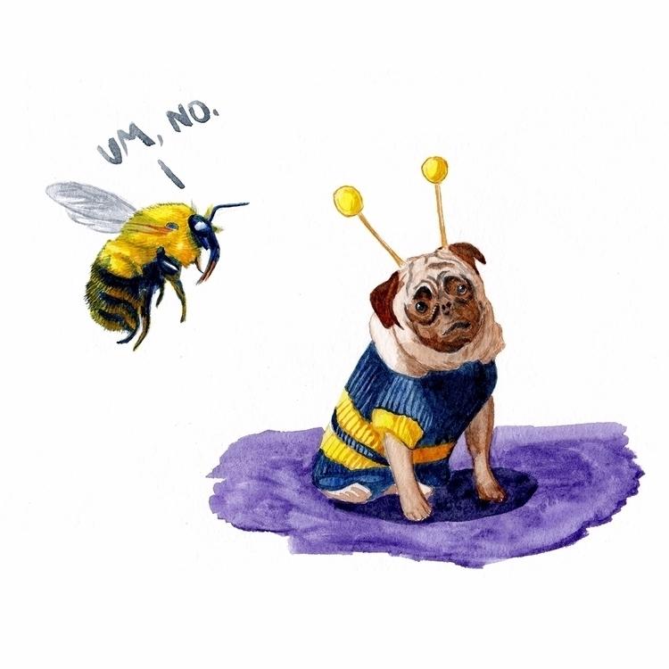 bumblebee impressed pug costume - mydiagonallife | ello
