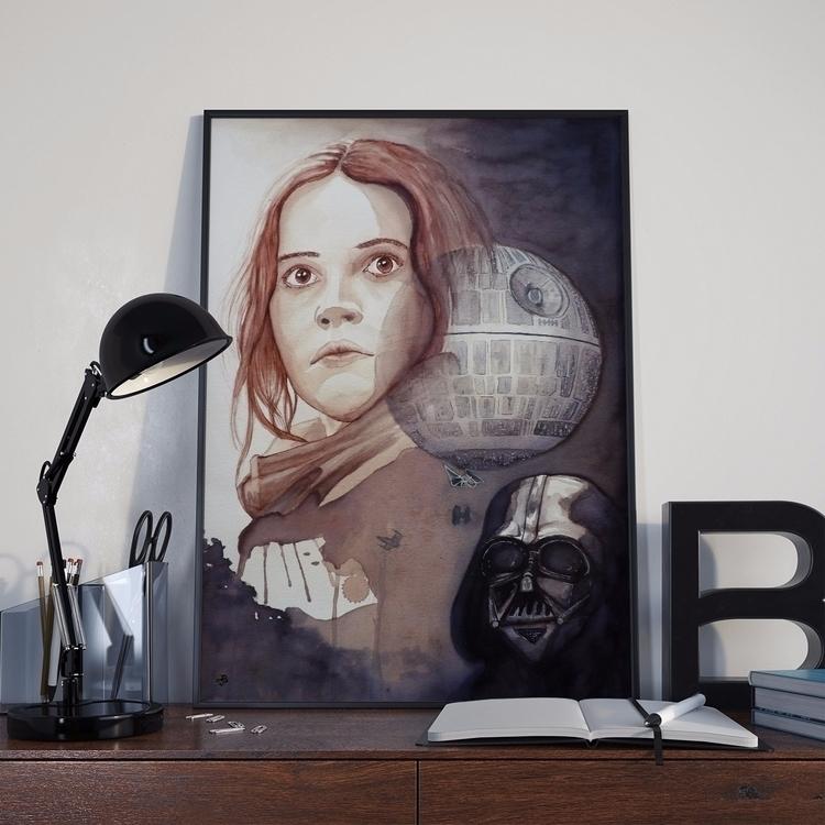 Pintura con vino tinta, poster  - juancho-1275 | ello