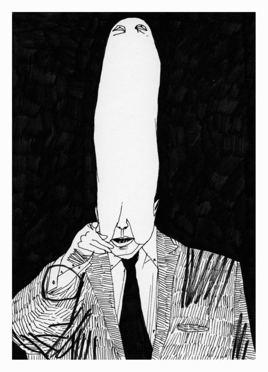 long head. 148x105mm, 2016 - art - carpmatthew | ello