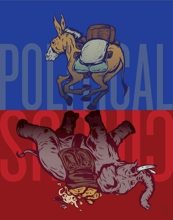 Political Circus - illustration - thomcat23 | ello