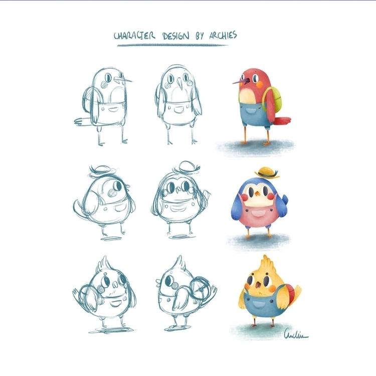 Birds Character Design archies - archies | ello