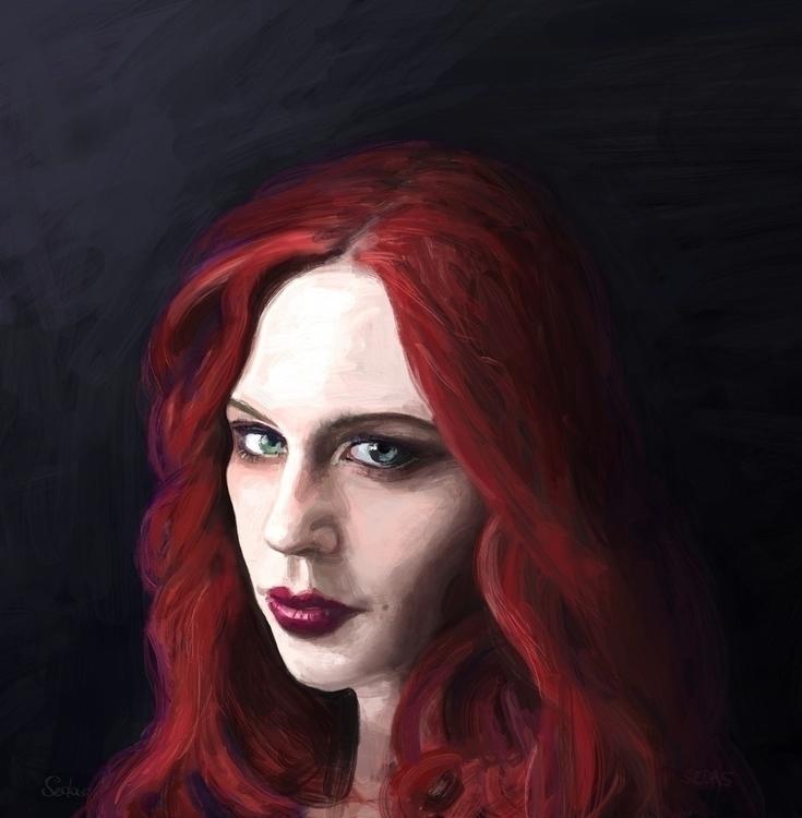 Jessica Digital oil painting 'J - artofsedas | ello