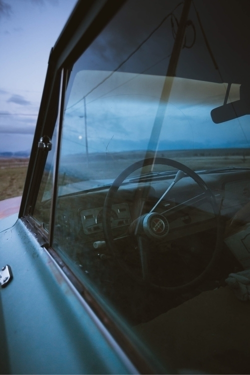Blue hour reflections Jeep - chriscauble | ello
