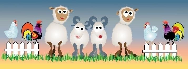 Chickens, Sheep Goats Illustrat - wendaworks | ello