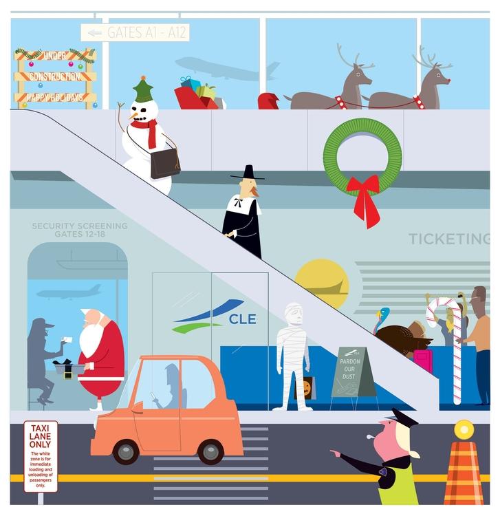 Holiday travel - illustration, vector - cmorris | ello