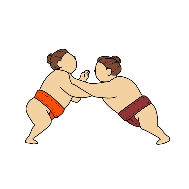 Pushing Side Line - Rikishi, Sumo - patrimonio | ello