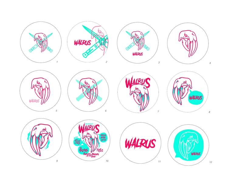 Stickers, shop - stickers, walrus - walrusillustration | ello