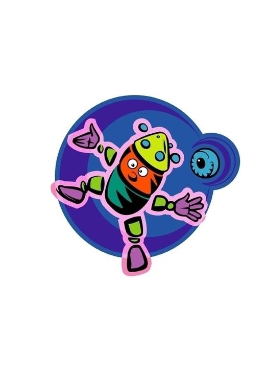 Orbiting Robot - orbitingrobot, art - stevevdh | ello