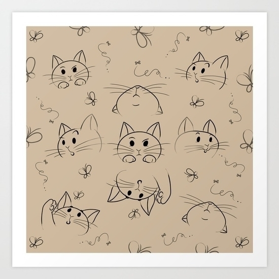 cats, kitty, butterfly, expressions - miideegrafiche | ello