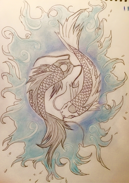 Yin yang fish April/17 - yinyang - nellie380 | ello