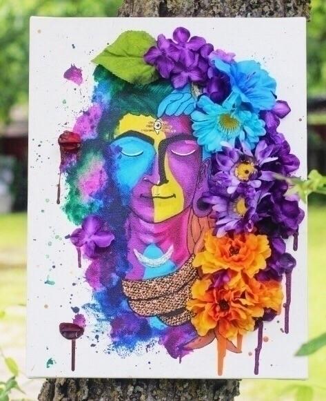 shiva, mixedmedia, art, painting - rozauniverse | ello