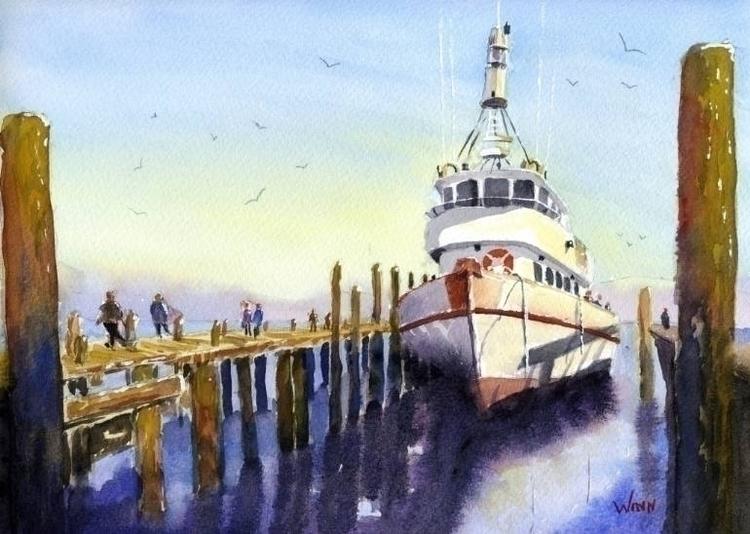 Titled: Pier Side impressionist - brettwinn | ello