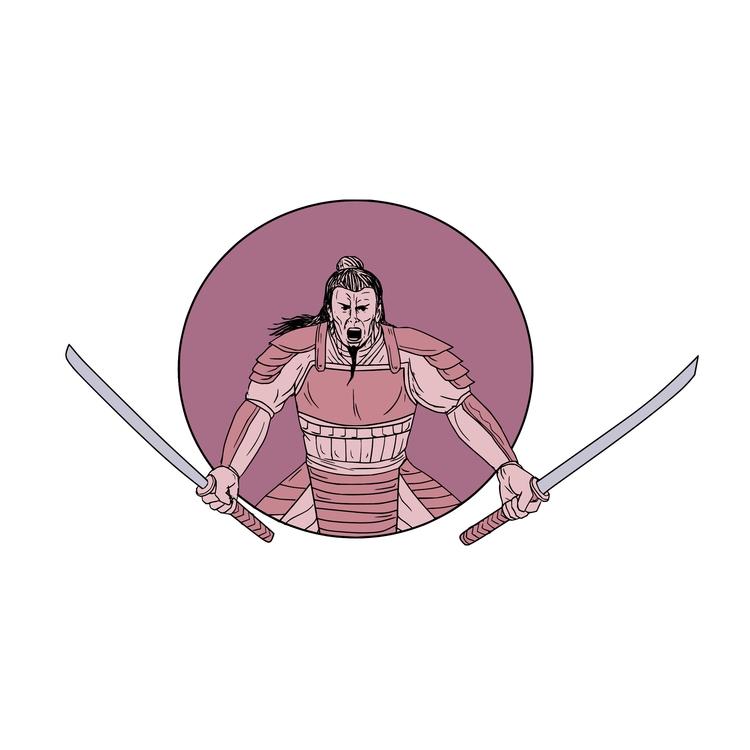 Raging Oval - Samurai, Warrior, Swords - patrimonio | ello