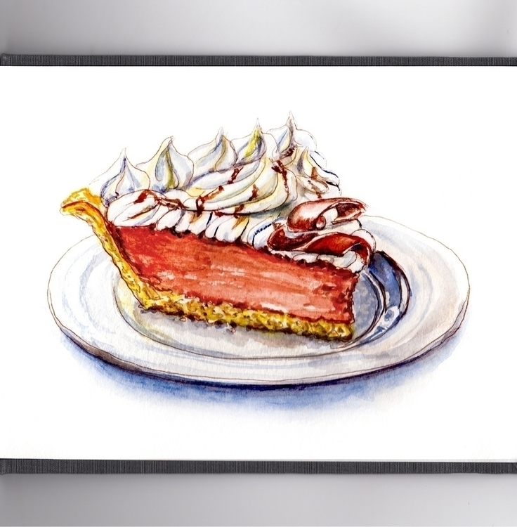 French Silk Pie - watercolor, watercolour - doodlewash | ello