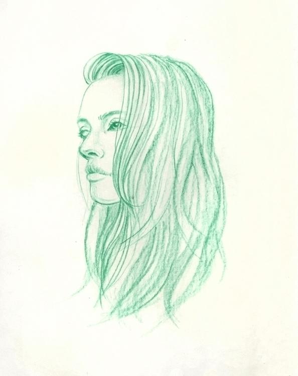 Green doodling - drawing, sketch - j0eyg1rl | ello