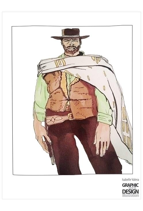 Clint - illustration, felts, markers - ivalera   ello