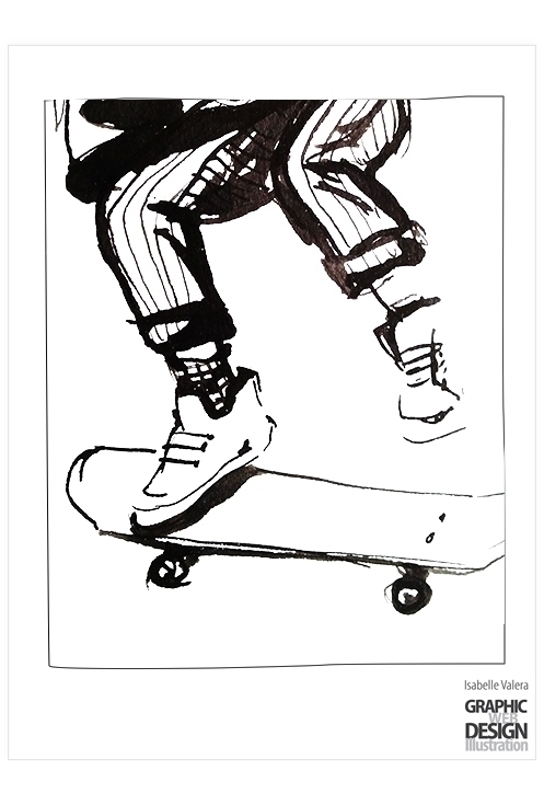 Skate session 3 - ink, illustration - ivalera | ello