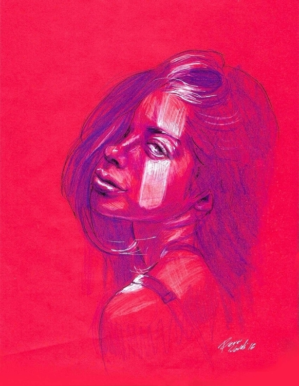 Rouge Girl - art, arte, dibujo, drawing - renzonovelli | ello