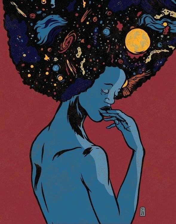 Galaxies - illustrations - thomcat23 | ello