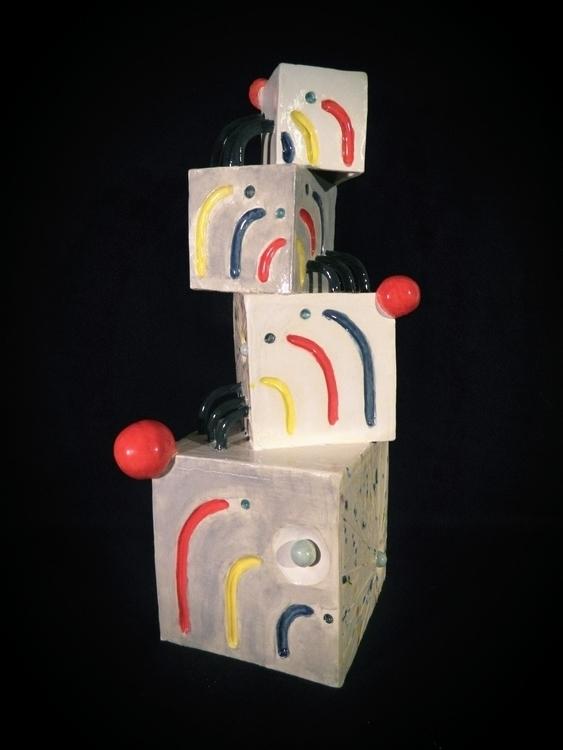 experimenting cubes spheres - ceramics - jmsai | ello