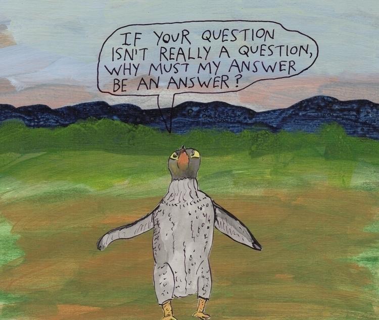 penguin wondering - stoicmike   ello