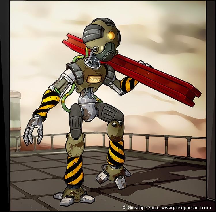 Robot ( 3d cel-shading techniqu - giuseppe3d | ello