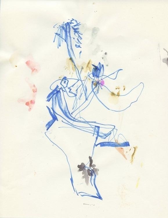 mixed media paper, 11 8.5 - drawing - homare | ello