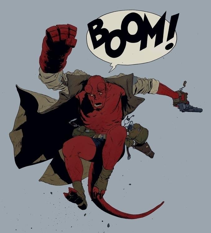 time drawing Hellboy - commissi - robertsammelin | ello