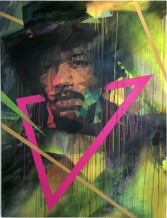 Portrait Jimi Hendrix 130 92 cm - uriginal | ello